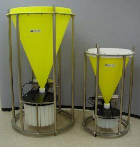 McLane Parflux Sediment Traps - Large 78H and Small Mk8 sediment trap